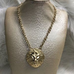 Unisex adult lion head necklace